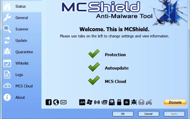 Mc Shield antivirus para virus de accesos directos